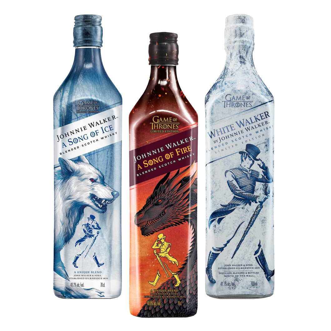 Johnnie Walker Game of Thrones Whisky Bundle 3x70cl