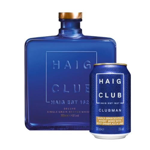 Haig Club Deluxe Single Grain Scotch Whisky, 70cl (Plus A Free Root Ginger Ale with Lime Signature Serve)