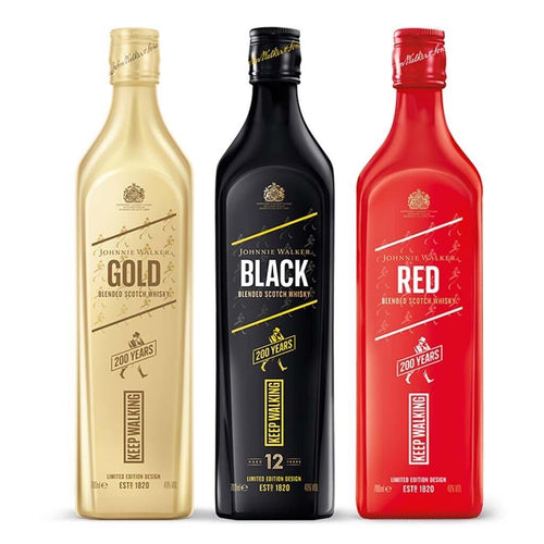 Johnnie Walker Blended Scotch Whisky Limited Edition Design Bundle, 3x70cl