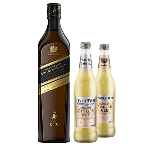 Johnnie Walker Double Black 70cl (Plus Free Fever Tree Ginger Ale 2 x 500ml)