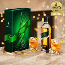 Load image into Gallery viewer, Johnnie Walker Green Label Blended Scotch Whisky, Gift Pack with 2 Glasses, 70cl