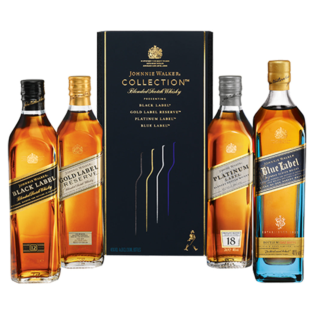 Johnnie Walker Blended Scotch Whisky Collection Gift Set, 4X20cl