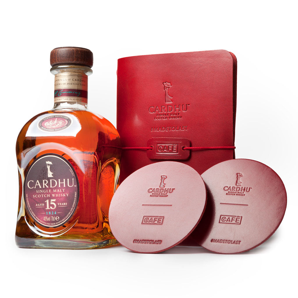 Cardhu 15 Year Old & Café Leather Gift Set
