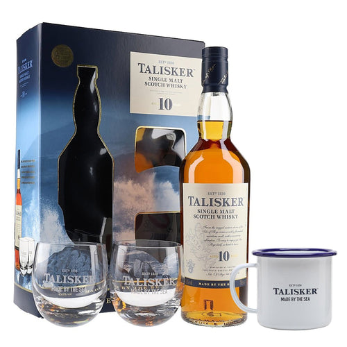 Talisker 10 Year Old - 2 Glass Pack (Gift Mug Included)