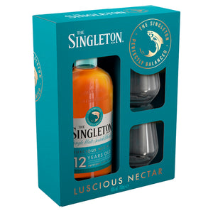 The Singleton Of Dufftown 12 Year Old Single Malt Scotch Whisky Gift pack with 2 Glasses, 70cl