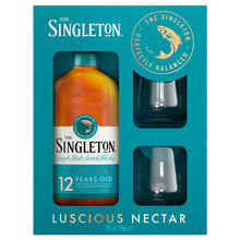 Load image into Gallery viewer, The Singleton Of Dufftown 12 Year Old Single Malt Scotch Whisky Gift pack with 2 Glasses, 70cl