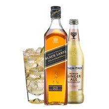 Load image into Gallery viewer, Johnnie & Ginger Highball Kit: Johnnie Walker Black Label 70cl, Highball Glass and Fever Tree Ginger Ale 500ml