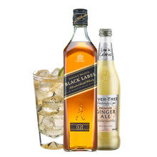 Load image into Gallery viewer, Johnnie & Ginger Highball Kit: Johnnie Walker Black Label 70cl, Highball Glass and Fever Tree Light Ginger Ale 500ml
