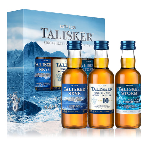 Talisker Single Malt Scotch Whisky Exploration Pack, 3x5cl