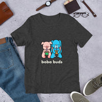 boba buds barn buds hamilton pig eleanor bunny cute character shirt, unique design for boba milk tea lovers t shirt