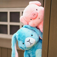 Barn Buds Company: Hamilton the Pink Pig Stuffed Animal Plush Toy, Eleanor the Blue Bunny Rabbit Stuffed Animal Plush Toy