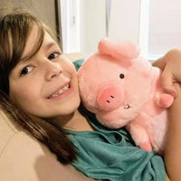 Hamilton the adorable cute pink stuffed pig and his new best friend!