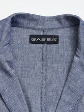 Laden Sie das Bild in den Galerie-Viewer, GABBA  ELIOT LINEN CROSS BLAZER  Navy