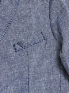 GABBA  ELIOT LINEN CROSS BLAZER  Navy