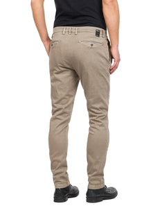 REPLAY  SLIM FIT CHINOHOSE ZEUMAR HYPERFLEX DENIM  sand