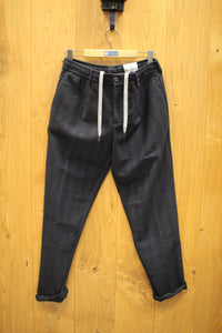WHITE SAND  Steve Pants Herringbone  navy