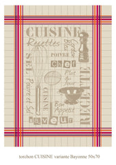 Cuisine Jacquard Reversible - 100% Cotton - 19x27""