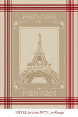 Tour Eiffel Jacquard Reversible - 100% Cotton - 19x27""