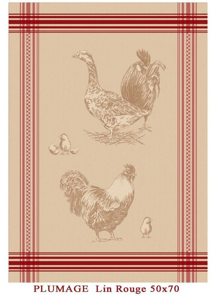 Plumage Jacquard Reversible - 100% Cotton - 19x27""
