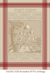 Sacre Coeur Jacquard Reversible - 100% Cotton - 19x27""