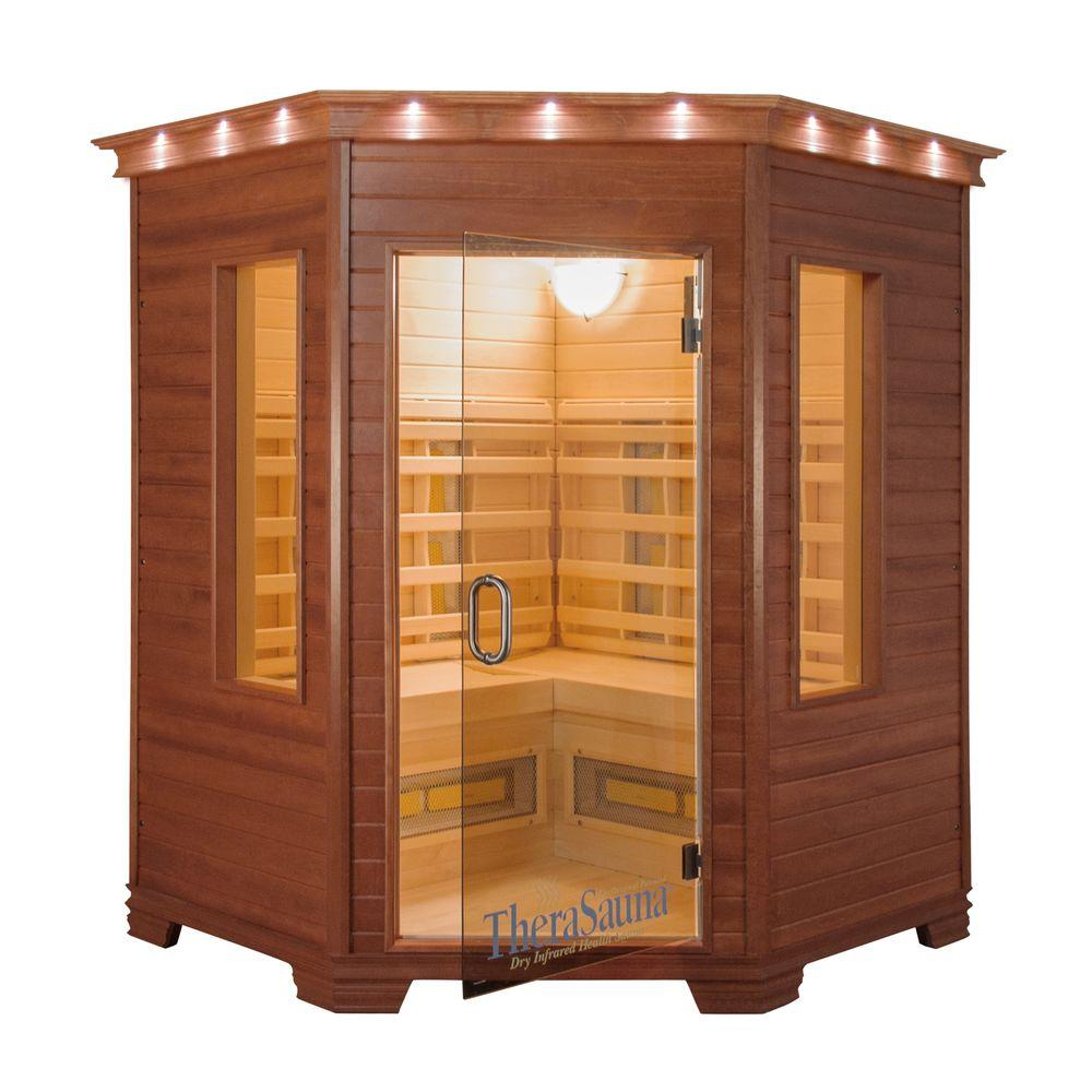 (DEMO) 3 Person Corner FAR Infrared Sauna with MPS Touch View Control