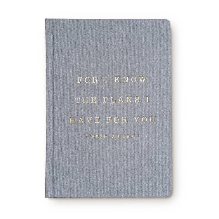 For I Know The Plans I Have For You Jeremiah 29:11 Fabric Journal