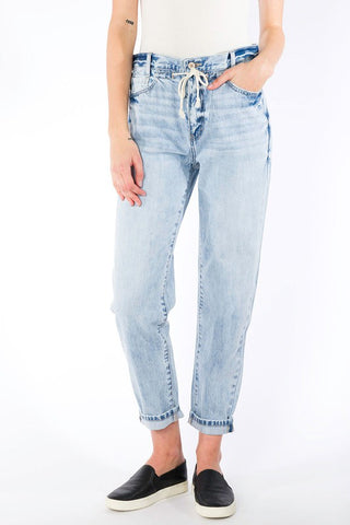 Kan Can Drawstring Mom Jeans