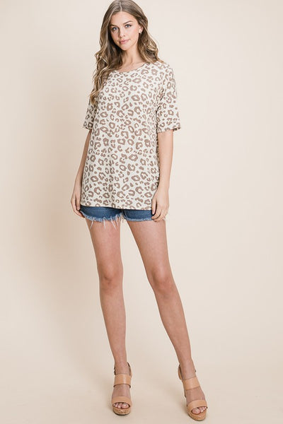 Loose Fit Animal Print Tunic