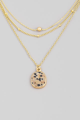 Dainty Layered Leopard Necklace