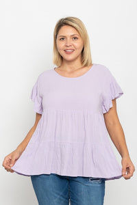 Dreaming of Spring Plus Size Babydoll Top