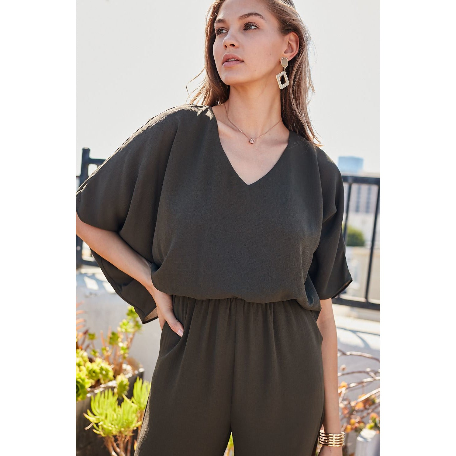 Like a Dream Jumpsuit in Olive