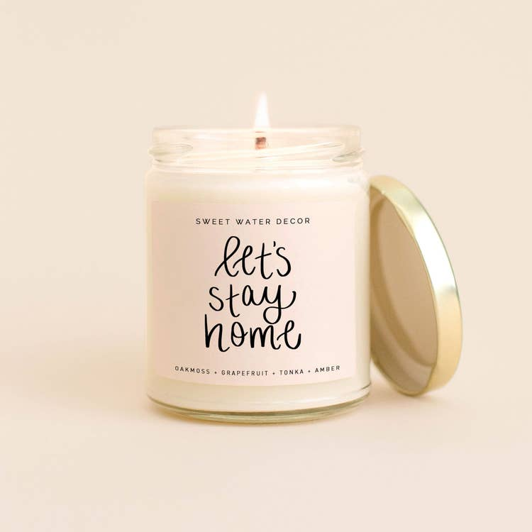 Let's Stay Home Soy Candle | 9 oz.