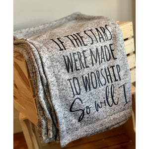 If The Star Are Meant To Worship Fleece Blanket