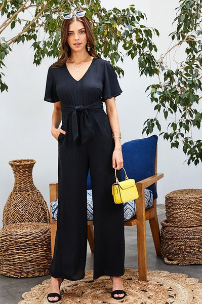 Pretty Pretty Jumpsuit in Black