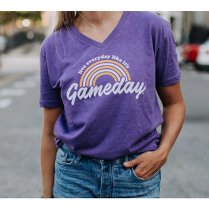 Live Everyday Like it's Game Day V-Neck Tee