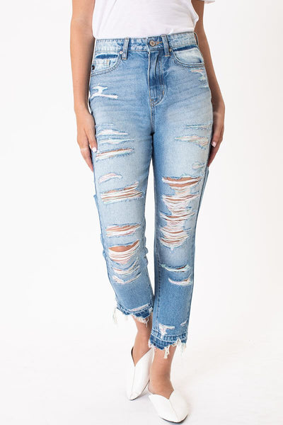 High Rise Distressed Classic Skinny Light
