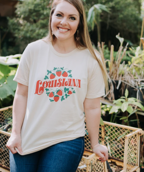 Louisiana Strawberry Tee