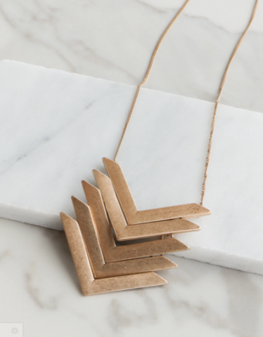 Layered Chevron Necklace