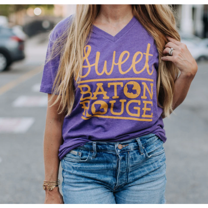 Sweet Baton Rouge V-Neck Tee