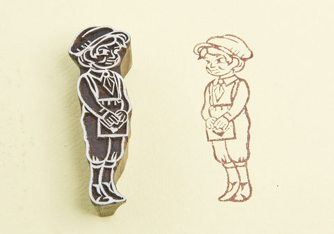 Charming Boy, Handmade wood stamps from Blockwallah