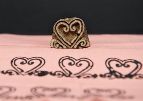 Curvy Heart, Handmade wood stamps from Blockwallah