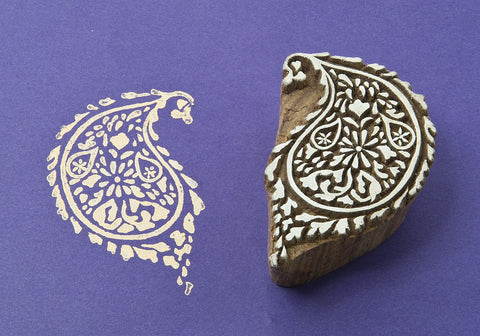 Patterned Paisley, Indian printing blocks from Blockwallah