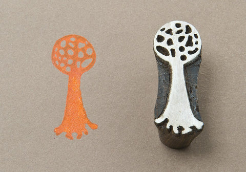 Ball Tree, hand crafted wood stamps from Blockwallah