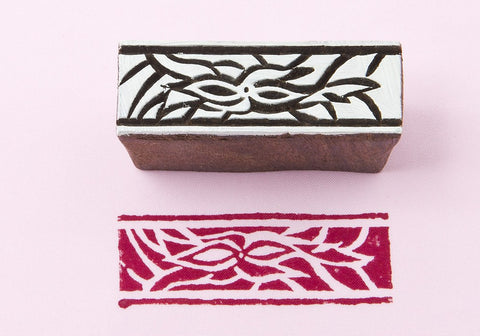 Border, hand crafted wooden printing  blocks from Blockwallah