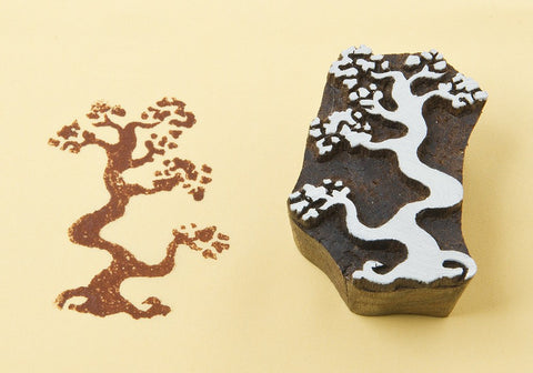 Bonzai, hand crafted wooden printing  blocks from Blockwallah