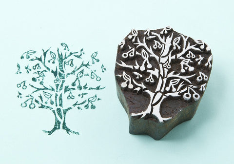 Cherry Tree,  Handmade wood stamps from Blockwallah