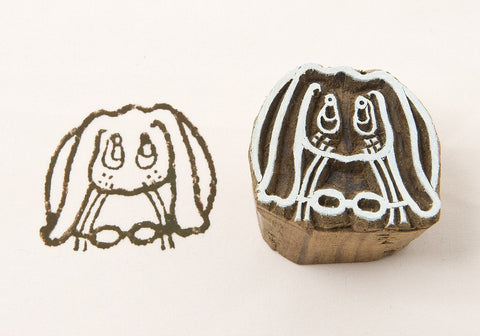Bunny, Indian wood stamps from Blockwallah