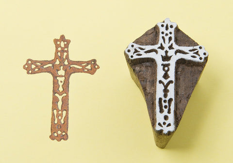 Cross, Handmade wood stamps from Blockwallah