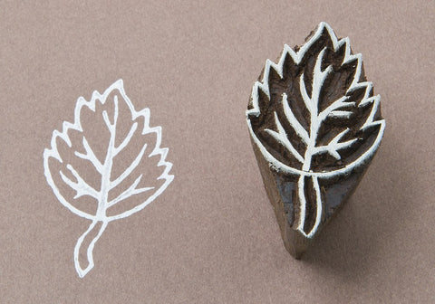 Birch Leaf, hand carved Indian wood block stamps from Blockwallah