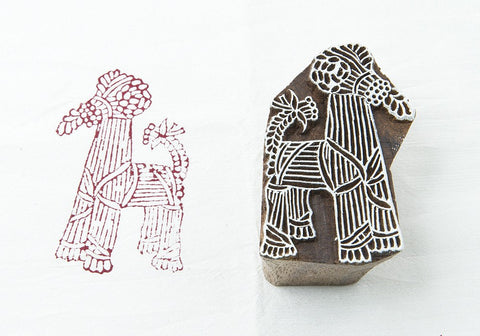 Birchbark Goat, hand carved Indian wood block stamps from Blockwallah